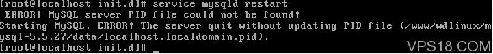 wdcp系统mysql升级到5.5报错问题