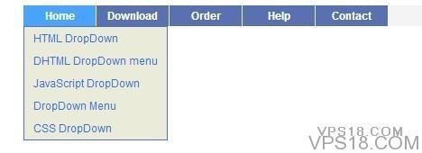 给大家分享一个js做的下拉菜单,很简单实用噢